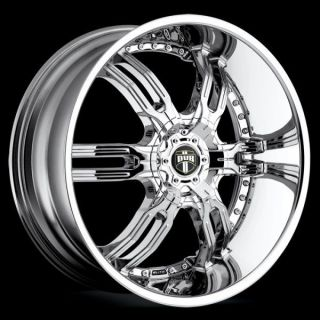 "26"" Dub Carnal Chrome Wheel Tire Package Rims 5 6 Lug Challenger Camaro Ford"