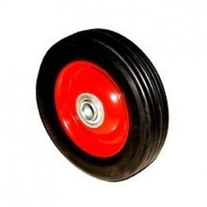 "6"" inch Replacement Solid Hard Rubber Tire Wheel and Rim for Dolly Hand Cart"
