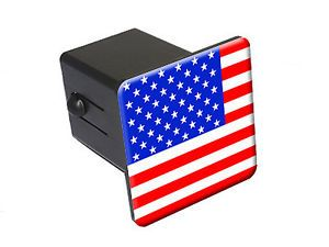 USA American Flag Tow Trailer Hitch Cover Plug Truck Pickup RV