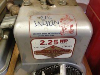Genuine '68 Lil Indian Briggs Stratton Engine 1968 Minibike Motor