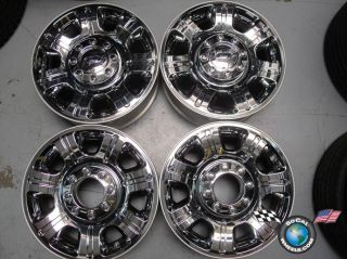 Four 2012 Ford F250 F350 Factory 20 Chrome Clad Wheels Rims CC3J 1007 AA