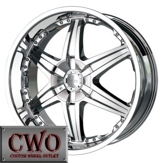 20 Chrome DIP Wicked Wheels Rims 6x139 7 6 Lug Chevy Tundra Titan Tahoe Escalade