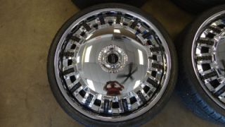 "22"" Dub Opera Spinners Spinning Chrome Wheels Nexen Tires Cadillac Chevy Buick"