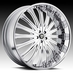 "19"" Dub 3 Piece Type 38 Chrome Wheel Set Custom Forged Rims 5 6 Lug Vehicles"