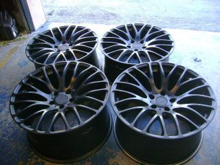 "20"" MRR Design 'HR6' Matte Black Concave Staggered Wheels Used Set of 4 BMW"