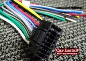 16 Pin Aiwa Aftermarket Car Stereo Radio Wire Harness Plug