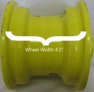 "6"" Rim Wheel for John Deere Zero Turn Riding Lawn Mower Deck or Implement 6x4 5"
