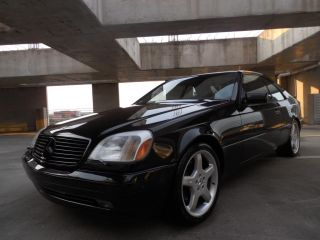 1999 Mercedes Benz CL500 Black on Black 2 Owners No Accidents AMG Wheels
