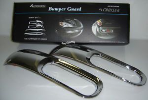 Chrysler PT Cruiser Chrome Rear Bumper Guards Brand New