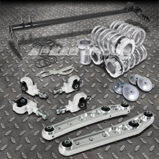 White Scale coilover Traction Bar Control Arm 4pc Camber Kit 92 95 Civic EH DC