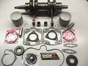 Crankshaft Pistons Engine Rebuild Kit 00 05 Polaris 800 RMK XC SP Edge Big Block