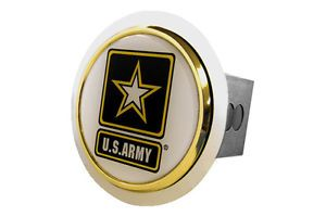 Honda Trailer Hitch Chrome Hitch Cover Plug Insert with US Army Logo by AG