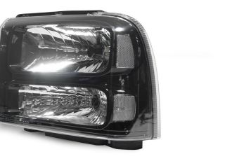 2005 07 Ford F250 F350 Harley Davidson Black Headlights