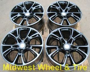 "Original 20"" PVD Black Chrome Jeep Grand Cherokee SRT8 Wheels Rims 9113"
