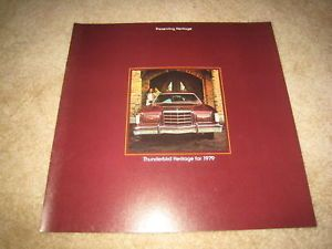 1979 Ford Thunderbird Heritage Deluxe Sales Brochure Catalog Dealer Literature