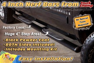 Wide Blk Oval Step Nerf Bars Ford F150 Super Cab 99 03