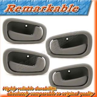 J033 Inside Door Handle Front Rear Left Right Kit Gray 98 02 Toyota Corolla New