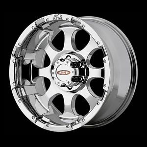 16 inch Chrome Wheels Moto Metal 955 Chevy HD GMC Dodge 2500 3500 8 Lug Trucks
