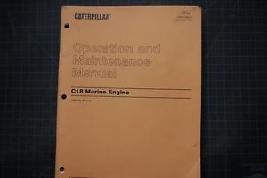 Cat Caterpillar C18 Marine Engine Operation Operator Maintenance Shop Manual