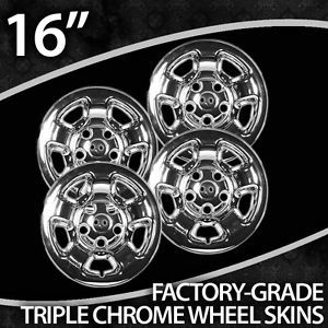 2005 2008 Dodge Dakota 16 inch Chrome Wheel Skin Covers