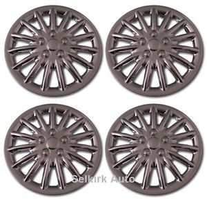 "New Replacement Aftermarket Universal 16"" inch Chrome Hub Caps Wheel Rim Covers"