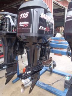 Used 2010 Mercury 115 DFI Pro XS Optimax 115HP 2 Stroke Outboard Boat Motor 20""
