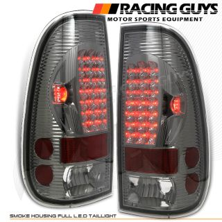 Smoke LED Tail Lights Rear Brake Signal Lamp 97 03 Ford F150 99 07 F250 SD Style