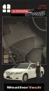 WeatherTech All Weather Floor Mats 07 Camry Black 4 PC