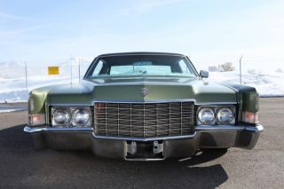 1969 Cadillac Coupe DeVille Air Bagged Lowrider Custom Paint Kustom Rat Rod