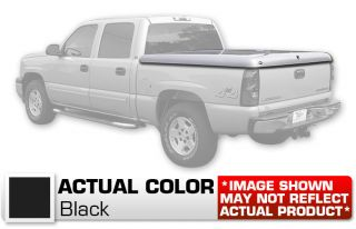 "Hard Tonneau Cover Truck Lid Painted Black 07 Chevy Silverado Crew Cab 72"" Bed"