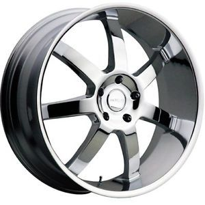 "22"" Menzari Z09 Absolute 6x135 Navigator F150 XLT Chrome Wheels Rims Free Lugs"