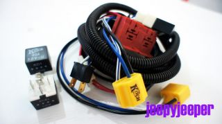 Toyota H4 Halogen Head Lamp Front Light 100W 90W Wiring Harness Relay Kit