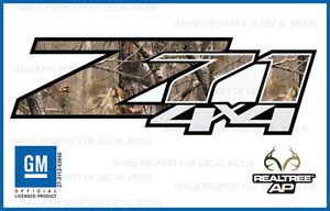 2008 Chevy Silverado Z71 4x4 Decals Realtree AP Camo Stickers Side Bed Truck HD