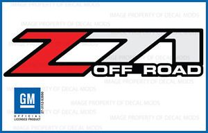 2002 Chevy Silverado Z71 Off Road Decals F Bed Truck Stickers 1500 Chevrolet