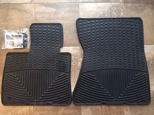 WeatherTech All Weather Floor Mats BMW x5 2007 2013 E70 Black Front Only