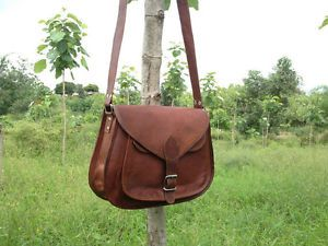 "Women Leather 11"" Cross Body Messenger Bag Purse Satchel Camera Bag Handbag ECL"