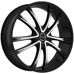 24 inch Akuza Shadow Black Machined Wheels Rims 5x120 Range Rover LS460 LS HL G8