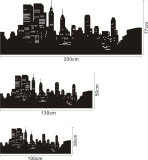 High Quality Vinyl Wall Decals 1 3M New York City Skyline Removable Wall Sticker