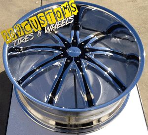 "22"" 22 inch 22x8 DW 29 FWD Wheels Tires Rims 5x110 Custom Drill"