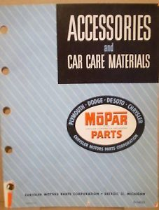 1951 1952 Mopar Dealer Acsry Parts Catalog Dodge Plymouth Chrysler DeSoto Truck