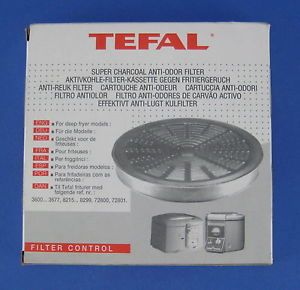 Tefal Filter Control Deep Fryer Super Charcoal Anti Odor New