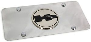 Hummer H3 Logo Emblem Front License Plate Frame Stainless Steel Metal Authentic