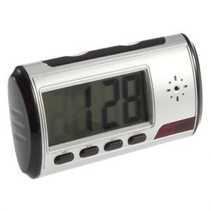 Spy Cam Hidden Camera Alarm Clock DVR Recorder Remote Control Multi Function GE