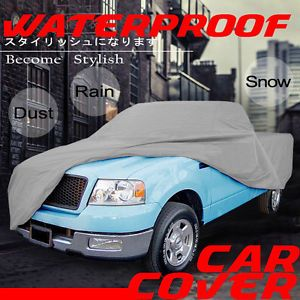"Chevy Pickup Truck Crew Cab Long Bed 8"" Box 4 Layer UV Snow Waterproof Car Cover"