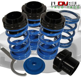 1993 2002 Toyota Corolla Tercel Adjustable lowering Springs coilover Kit Blue