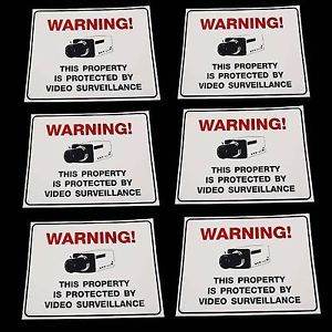 Warning Spy CCTV Security Surveillance Spy Cameras in Use Private Property Signs