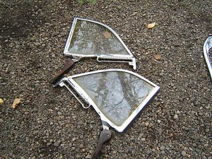 1957 1958 Ford Fairlane Retractable Quarter Glass Assy Pair