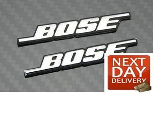 2 x Bose Silver Speaker Logos Decals Emblems Badges Stickers Car Home Audio