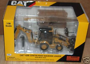 Cat Norscot Caterpillar 420E Backhoe Loader Center Pivot with Work Tools 1 50