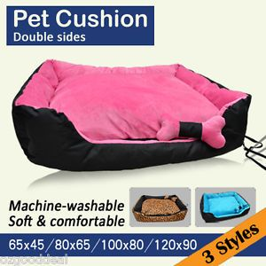 New Extra Large XL Pet Dog Cat Bed Beds Cushion Home House Pink Black 100x80cm
